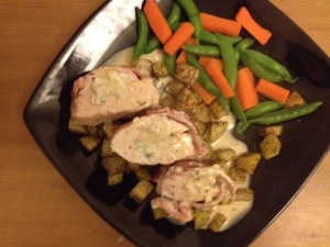 Creamy Garic Stuffed Chicken