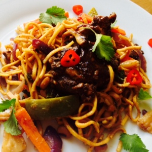 Sticky Chicken Chinese Noodles 2