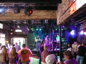 Energetic Zydeco early in the day at Krazy Korner, Bourbon Street
