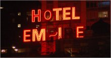 Empire Hotel sign